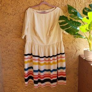 eShakti fit and flare midi dress size 2X / 22W